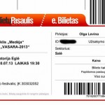 """Билет на спектакль """"Медея"""",  г.Друскининкай, Литва"""